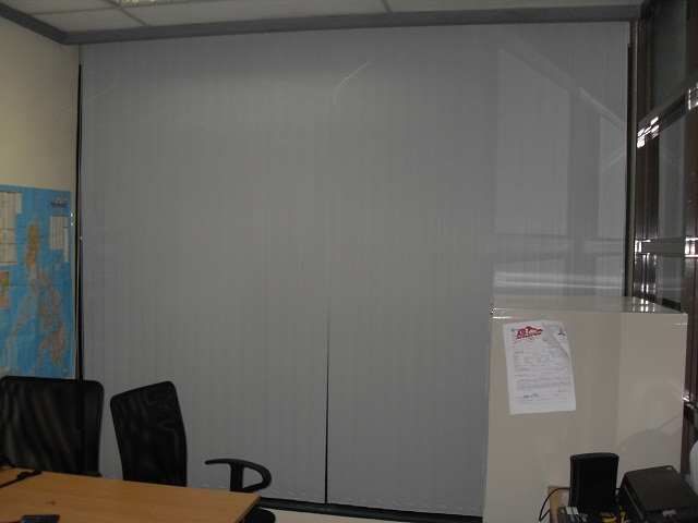 Installed PVC Vertical Blinds at Antel Corporate Center Makati City Philippines