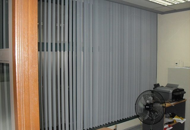 PVC Vertical Blinds Installed at Makati City Philippines