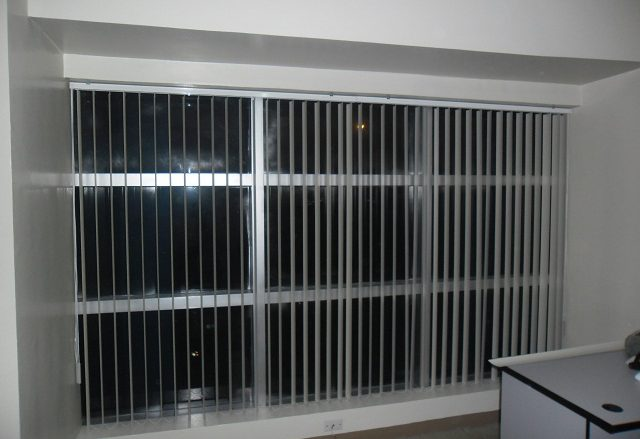 Installed PVC vertical blinds at Cityland Pasong Tamo, Makati City
