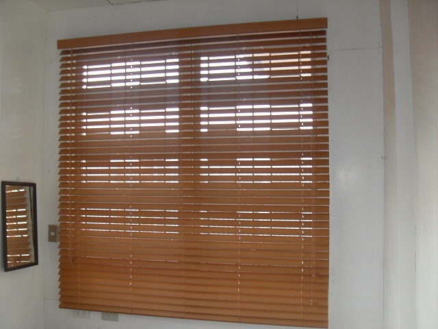 Installed Faux Wood Blinds at Taguig City