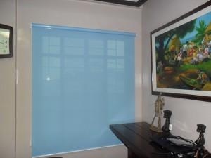 Blue Sunscreen Roller Shade