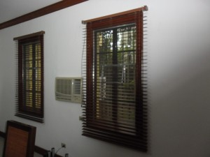 Wooden Blinds When Open - #365 Walnut