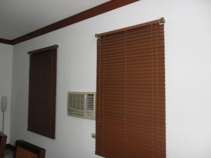Wooden Blinds When Close - #365 Walnut