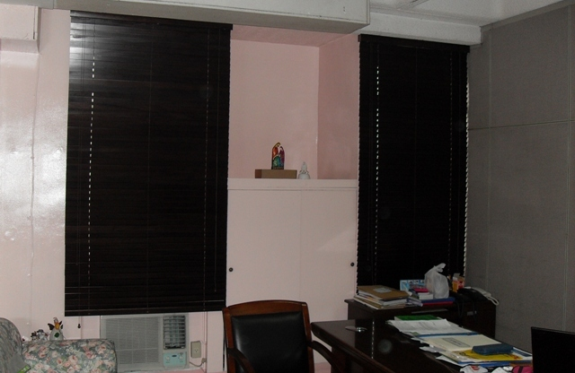 Wood Blinds Installed at Intramuros, Manila