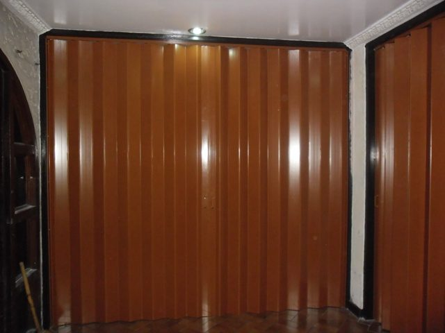 PVC Accordion Door Installed at Makati City, Philippines