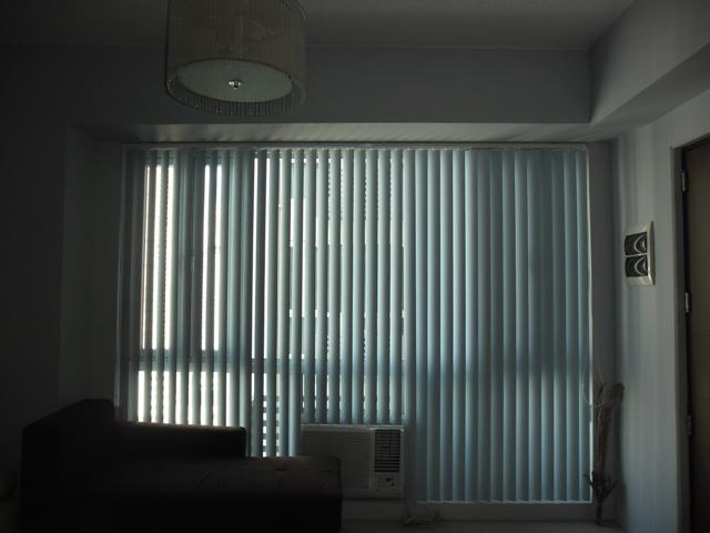 PVC Vertical Blinds : Waves Light Blue Color