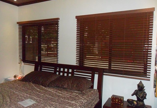 Faux Wood Blinds Installed at San Antonio Village,Makati