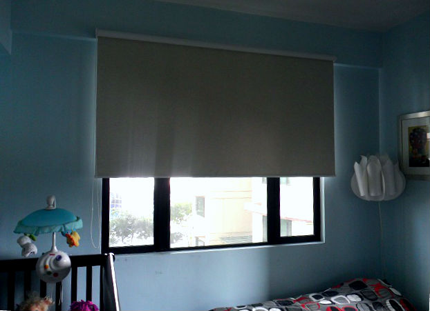 Roller Blinds Installation At New Manila, Philippines