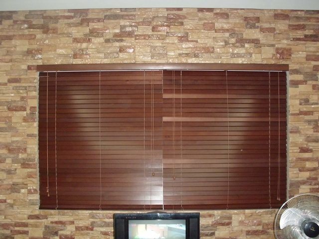 Installation of Wooden Blinds at Taguig City, Philippines