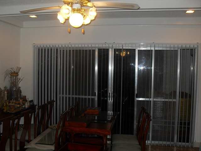 Fabric Vertical Blinds Installed in Taytay, Rizal, Philippines