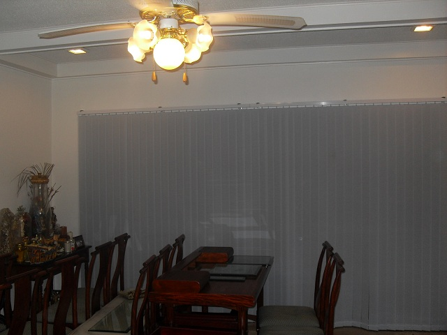 Fabric Vertical Blinds:V7546 Blue Inatalled at Taytay, Rizal Philippines