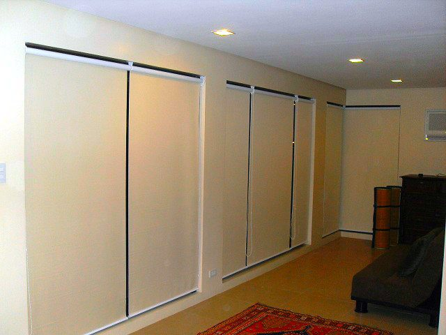 Roller Blinds for Basement Interior Installed at Pasay City,Philippines