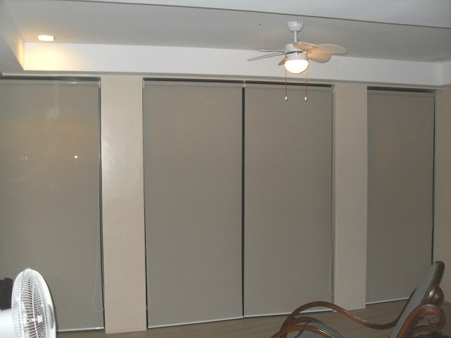 Roller Blinds:A4002 Beige Installed at Pasay City, Philippines