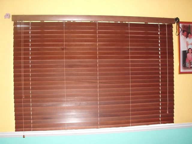 Wooden Blinds Installed at Malabon Metro Manila, Philippines