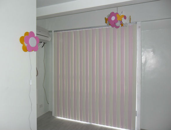 Combination of Cream Corr & Baby Pink Color of PVC Vertical Blinds