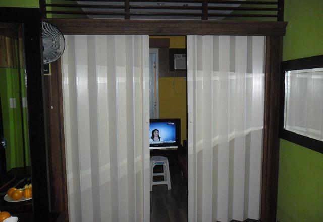 """Accordion Door Regular """"WHITE ASH"""" Installed at Intramurus Manila, Philippines"""
