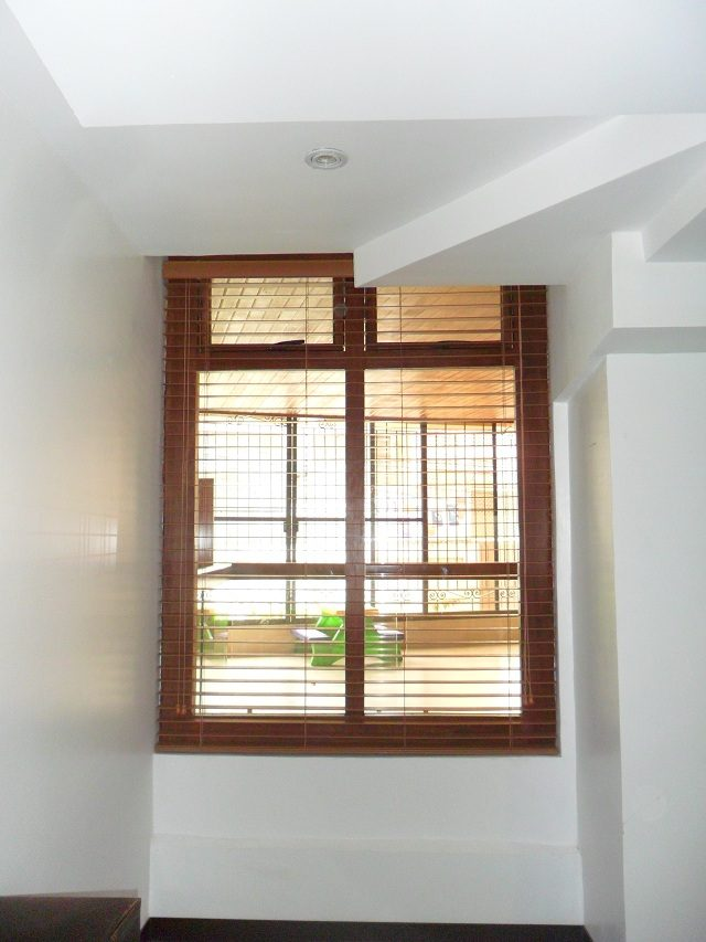 Fauxwood Blinds Installation at Novaliches, Quezon City, Philippines