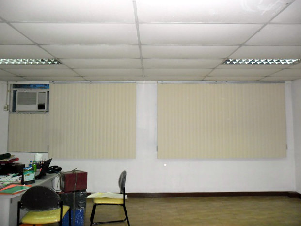 PVC Vertical Blinds Installed at Taguig City, Philippines
