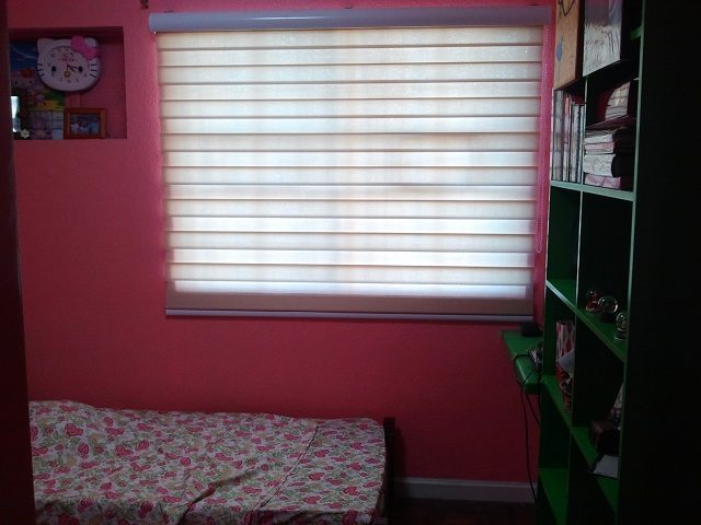 Pink Room with Combi Blinds Installed at Antipolo City, Philippines