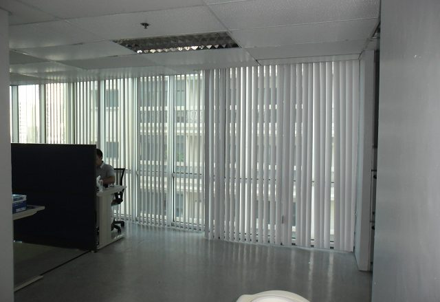 PVC Vertical Blinds Installed in Taguig City, Philippines