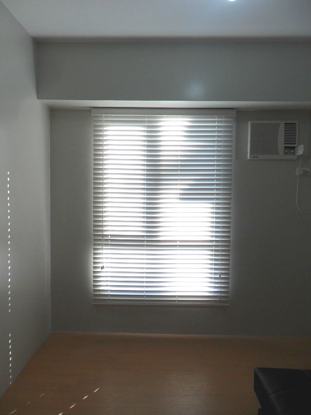 Faux Wood Blinds Installation in Quezon City, Philippines