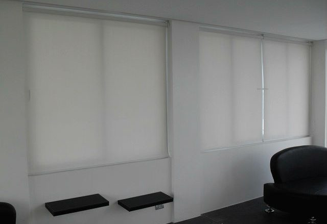 Roller Blinds for Black and White Motif