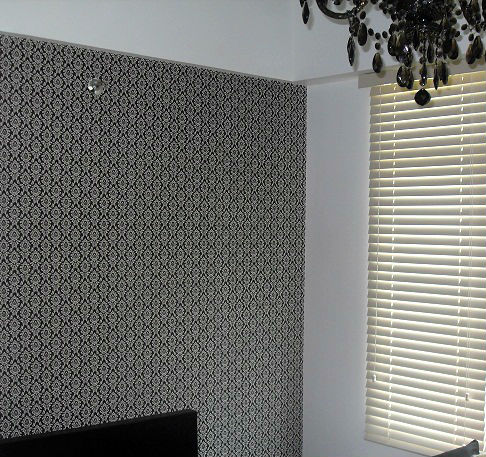 Vinyl Wall Paper Cover Installation in Quezon City, Philippines