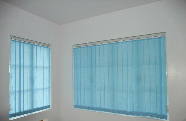 "Fabric Vertical Blinds ""V7556 Blue"" at Makati City, Philippines"