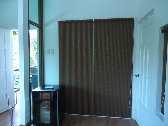 "Roller Blinds ""H335 Dark Cherry"" Installed at Imus Cavite, Philippines"