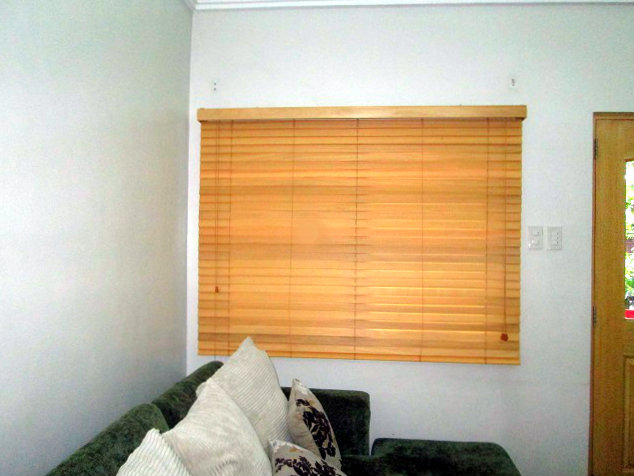 "Installation of Wooden Blinds "" #869 Basswood Cherry"" at Mandaluyong City, Philippines"