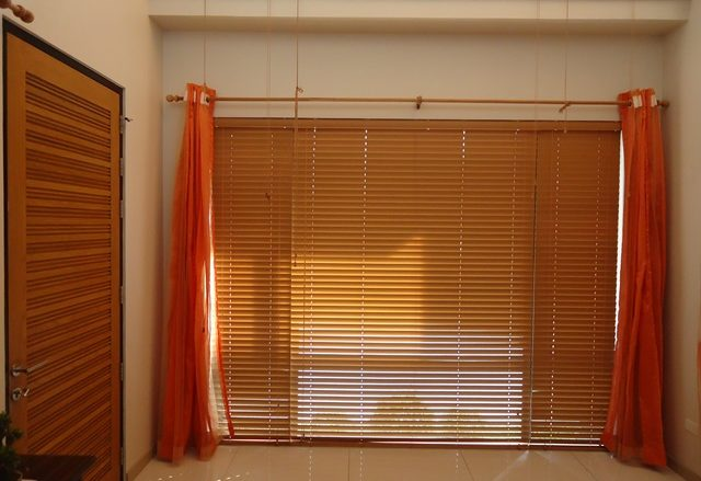 Faux Wood Blinds Installed in Manggahan, Pasig City, Philippines