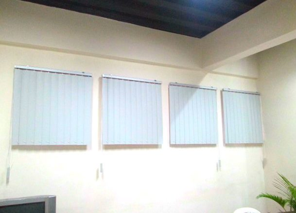 White PVC Vertical Blinds Installed at Manadaluyong City, Philippines