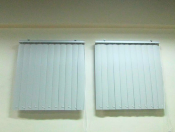 "PVC Vertcail Blinds ""Corr Curve White"" Installed at Mandaluyong City, Philippines"