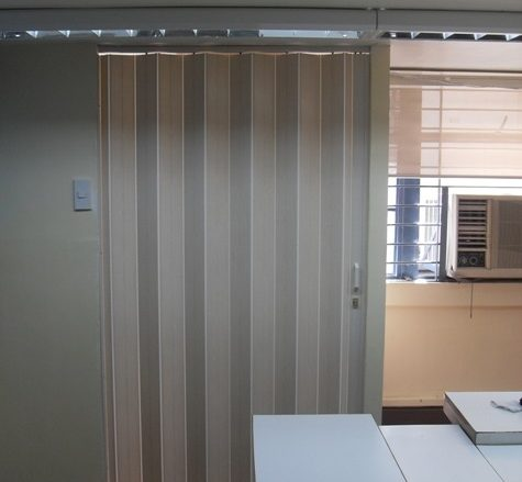 Installation of PVC Accordion Door in Muntinlupa, Philippines