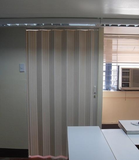 Installation of PVC Accordion Door in Muntinlupa, Philippines