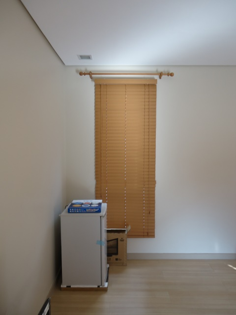 Installation of Faux Wood Blinds in Marikina City, Philippines
