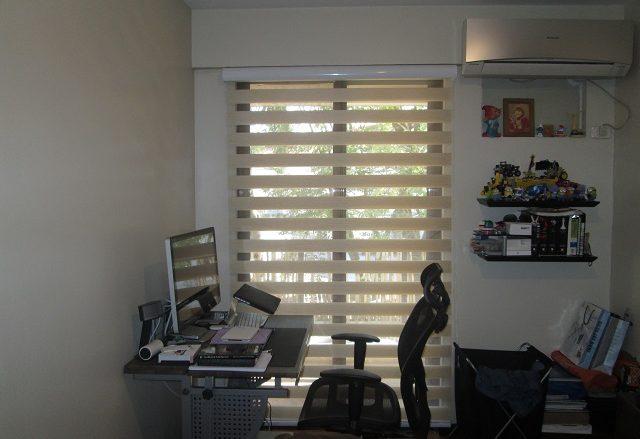 Combination Blinds in Balcony Sliding Glass Door