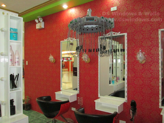 Red Vinyl Wallpaper Installed in Lucena City