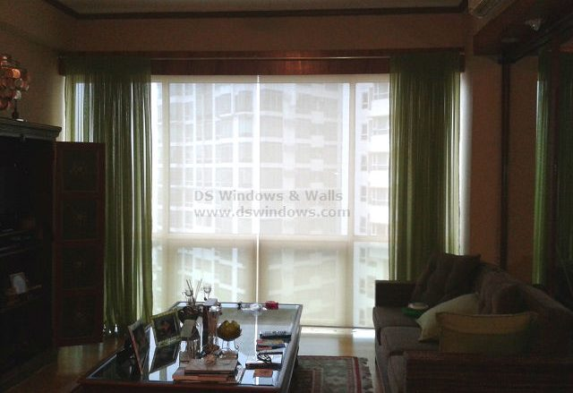 Living Room Roller Blinds in Fort Bonifacio, Taguig City