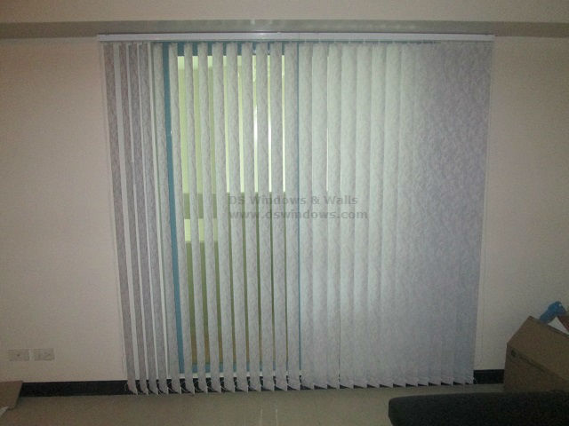 Fabric Vertical Blinds - V7589 Grey