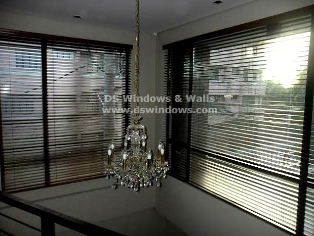 Installed Wood Blinds in Subic City, Zambales, Philippines