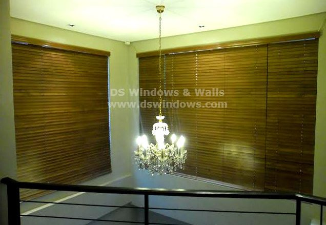 Elegant and Functional Wood Blinds