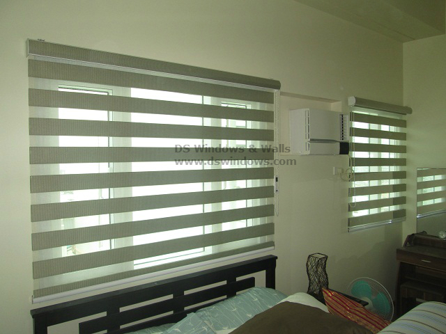 Combi Blinds Instslled in the Bedroom - Sikatuna Village, Quezon City