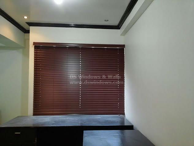 Faux Wood Blinds Installed in Taguig City, Philippines