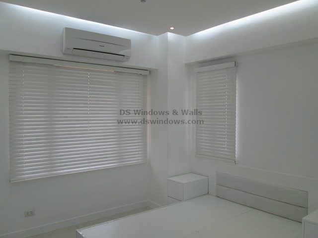 Real Wood Blinds in Bed Room