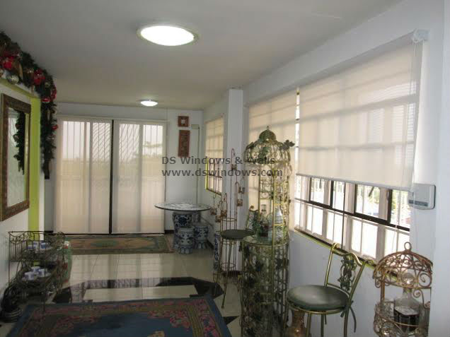 Roller Shades for Wrought Iron Home Motif