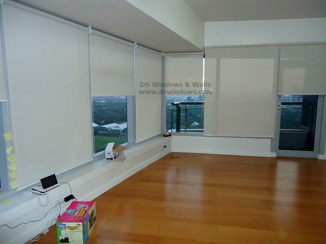 Window Roller Shades For Tempered Glass Wall - Bonifacio Global City