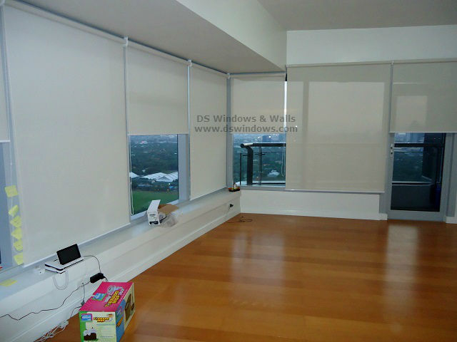 Window Roller Shades For Tempered Glass Wall - Bonifacio Global City