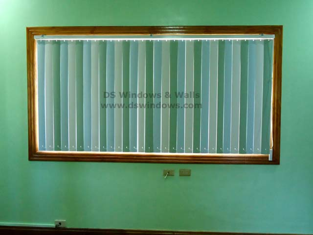 Inside Mounting PVC Vertical Blinds installed in Quezon City, Philippines