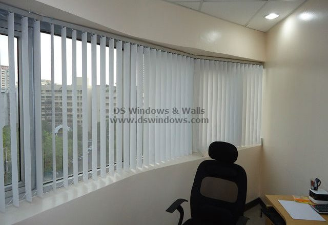 Corner Office Space Using PVC Vertical Blinds - Legaspi Village, Makati